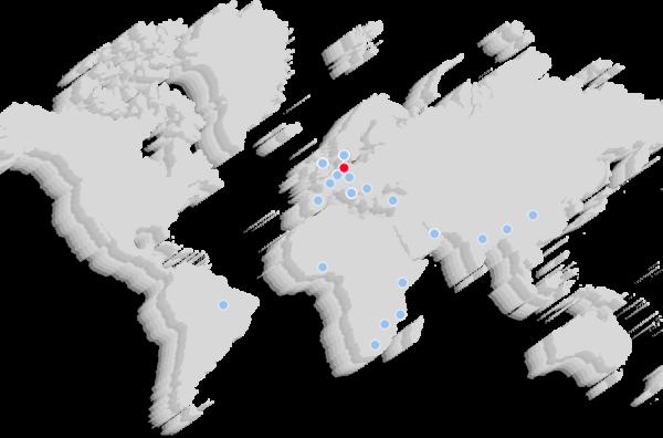 Global presence map